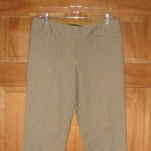The Limited Drew Fit Blue/Mustard Patterned Pants